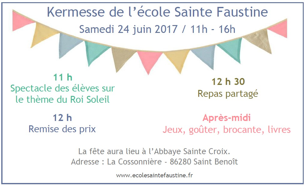 Invitation Kermesse 2017